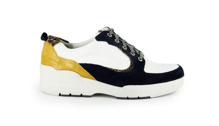 Durea Go Sneaker Blauw/Wit/Oker 6232 H