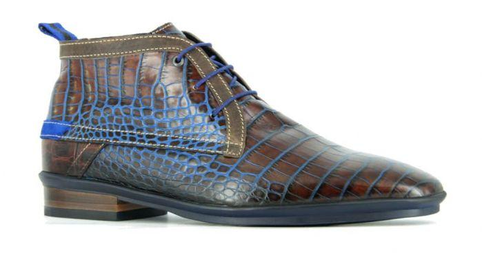 Floris Boot Bruin/Blauw Kroko H
