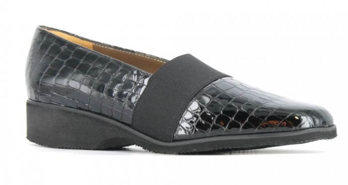 Alex. Loafer Croco Lak Zwart