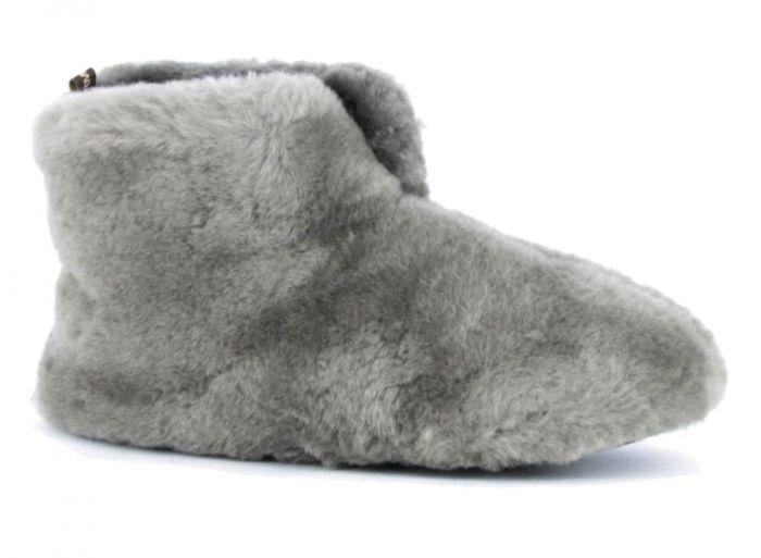 Warmbat Pantoffel Grijs Fluffy